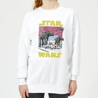 Star Wars ATAT Women's Sweatshirt - White - M - White from Star Wars