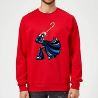 Star Wars Candy Cane Darth Vader Red Christmas Sweatshirt - XXL - Red from Star Wars