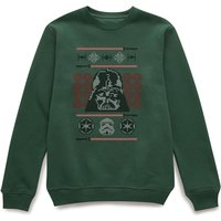 Star Wars Darth Vader Face Knit Green Christmas Sweatshirt - L - Green from Star Wars