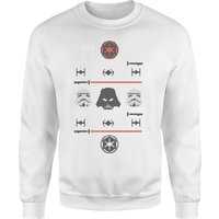 Star Wars Imperial Knit White Christmas Sweatshirt - L - White from Star Wars