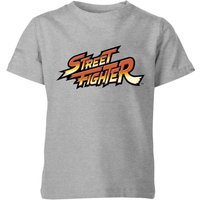 Street Fighter Logo Kids' T-Shirt - Grey - 11-12 Years - Grey from Street Fighter