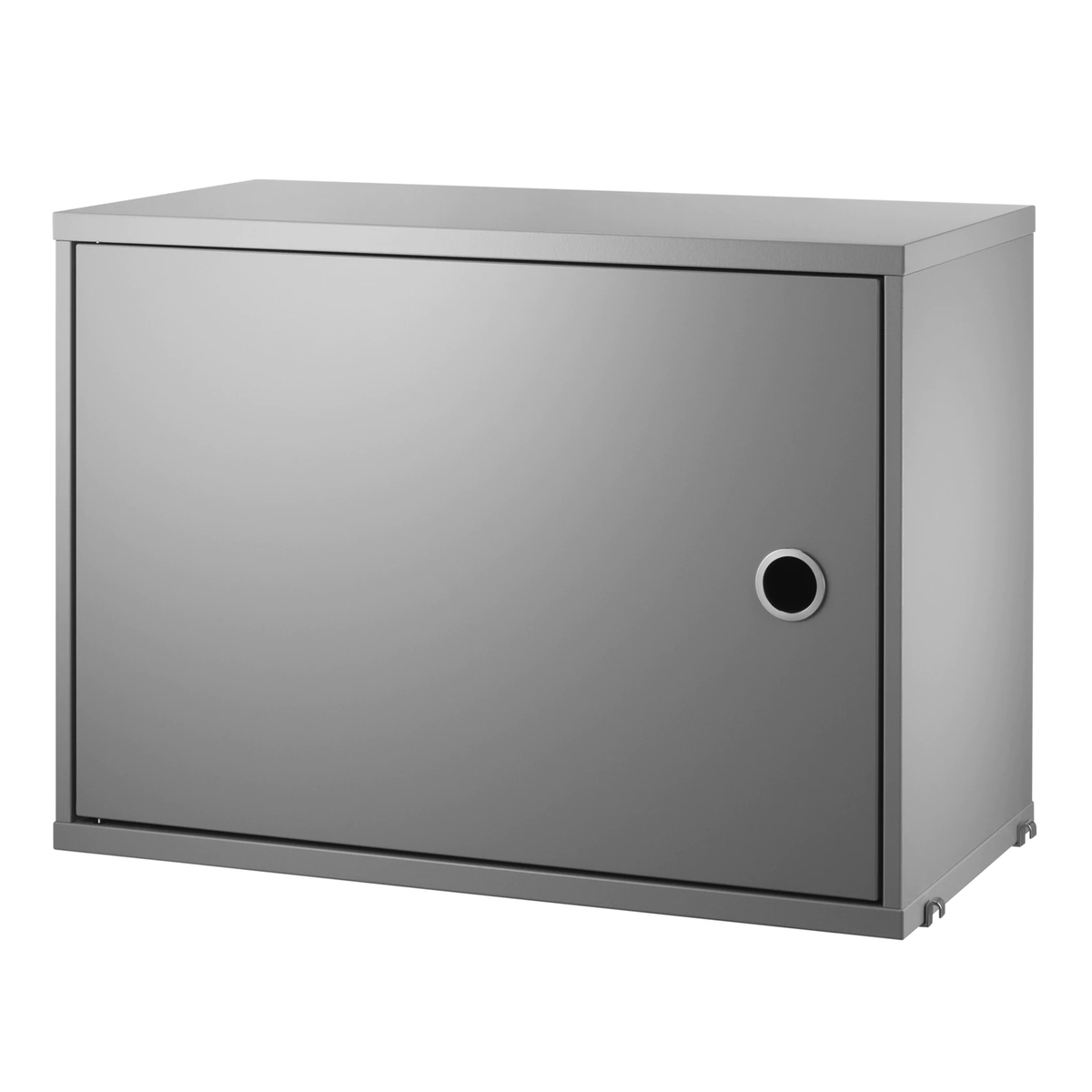 String Furniture String cabinet with swing door, 58 x 30 cm, grey from String Furniture