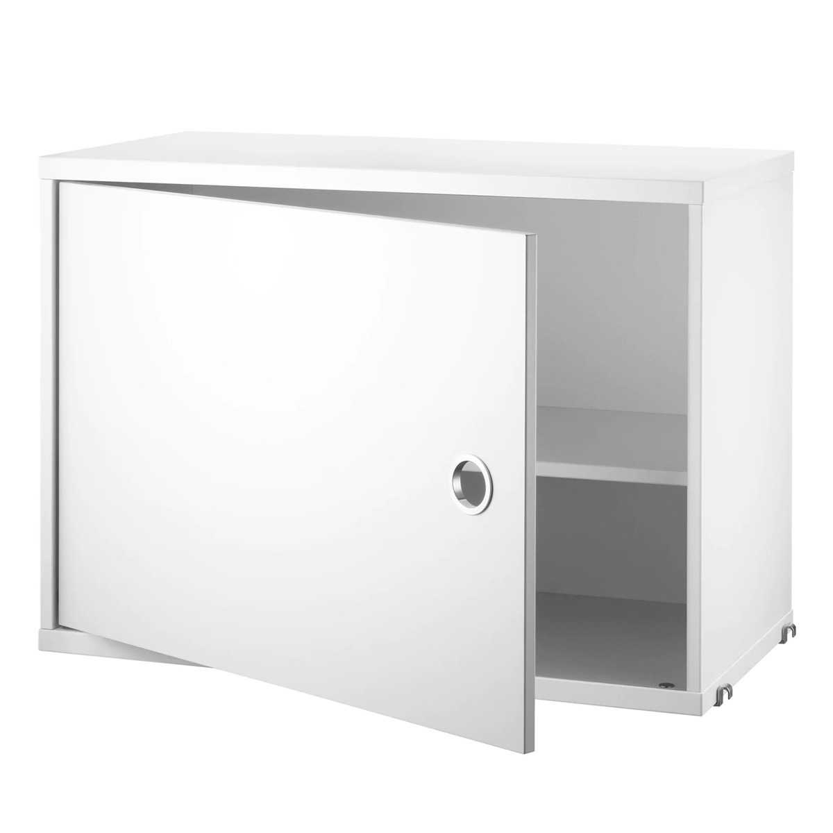 String Furniture String cabinet with swing door, 58 x 30 cm, white from String Furniture