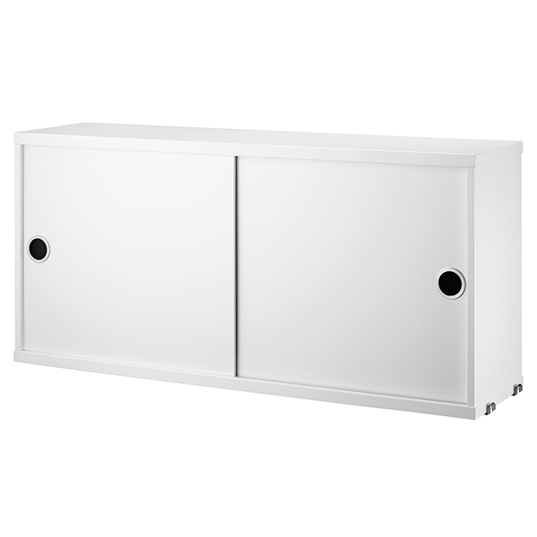 String Furniture String cabinet, 78 x 20 cm, white from String Furniture