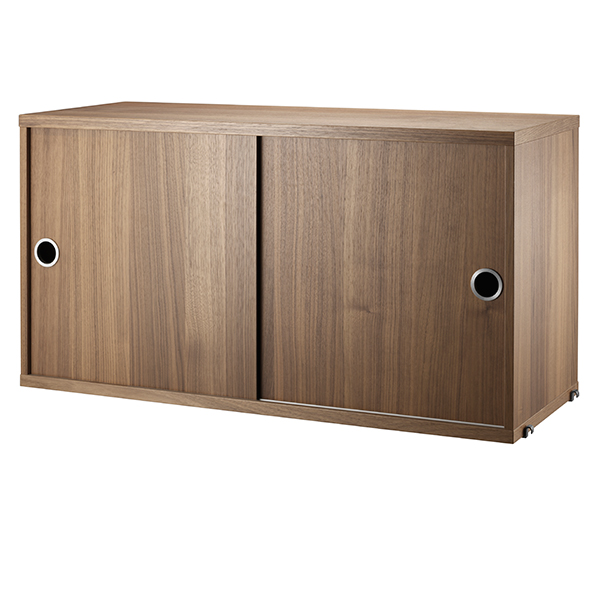 String Furniture String cabinet, 78 x 30 cm, walnut from String Furniture