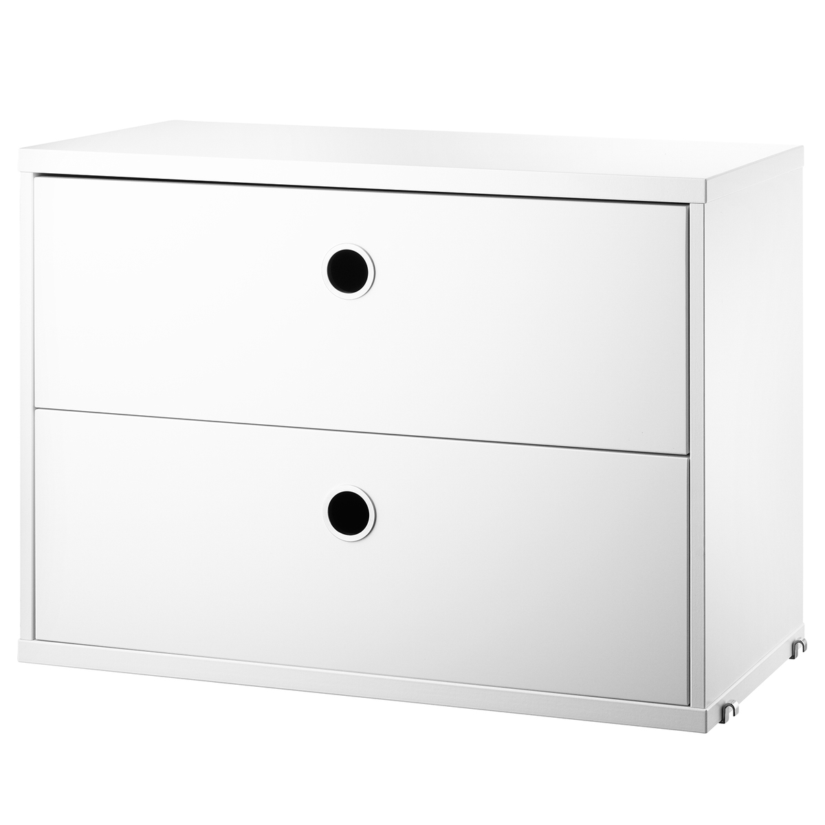 String Furniture String chest with 2 drawers, 58 x 30 cm, white from String Furniture