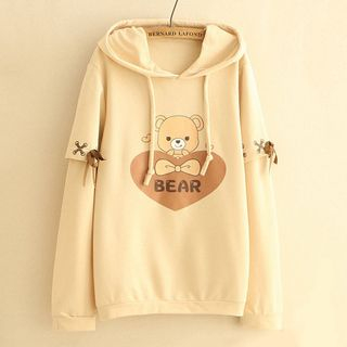 Bear Print Hoodie from Suzette