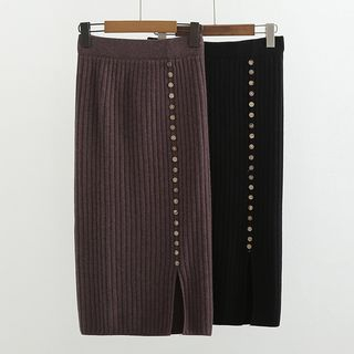Midi Straight-Fit Knit Skirt from Suzette