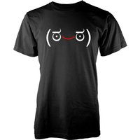 Men's Happy Jemoticon T-Shirt - XXL - Black from T-Junkie