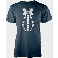Skull Shred Navy T-Shirt - XL - Navy from T-Junkie