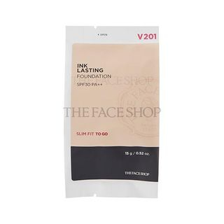 THE FACE SHOP - Ink Lasting Foundation Slim Fit To Go SPF30 PA++ Refill Only 15g (5 Colors) #N201 Apricot Beige from THE FACE SHOP