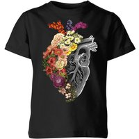 Flower Heart Spring Kids' T-Shirt - Black - 5-6 Years - Black from TOBIAS FONSECA