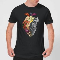 Flower Heart Spring Men's T-Shirt - Black - XXL - Black from TOBIAS FONSECA