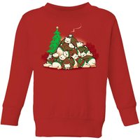 Tobias Fonseca Good Night Xmas Bear Kids' Sweatshirt - Red - 9-10 Years - Red from TOBIAS FONSECA