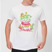 Tobias Fonseca Meow Catmas Lights Men's T-Shirt - White - XL - White from TOBIAS FONSECA