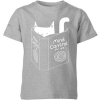 Mind Control for Cats Kids' T-Shirt - Grey - 11-12 Years - Grey from TOBIAS FONSECA