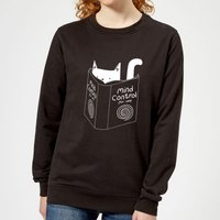 Mind Control for Cats Women's Sweatshirt - Black - L - Black from TOBIAS FONSECA