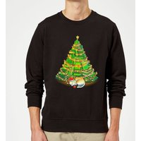 Tobias Fonseca My Favorite Xmas Tree Sweatshirt - Black - XL - Black from TOBIAS FONSECA