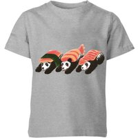 Panda Sushi Kids' T-Shirt - Grey - 7-8 Years - Grey from TOBIAS FONSECA