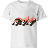 Panda Sushi Kids' T-Shirt - White - 9-10 Years - White from TOBIAS FONSECA