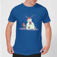 Tobias Fonseca Polar Xmas Eggnog Men's T-Shirt - Royal Blue - S - royal blue from TOBIAS FONSECA