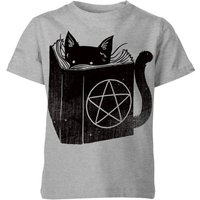 Satanicat Kids' T-Shirt - Grey - 5-6 Years - Grey from TOBIAS FONSECA