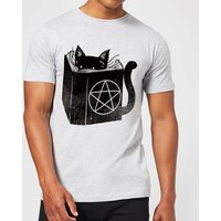 Satanicat Men's T-Shirt - Grey - L - Grey from TOBIAS FONSECA