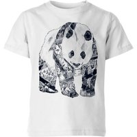 Tattooed Panda Kids' T-Shirt - White - 7-8 Years - White from TOBIAS FONSECA