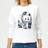 Tattooed Panda Women's Sweatshirt - White - XXL - White from TOBIAS FONSECA