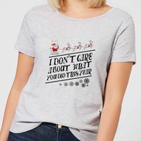 Tobias Fonseca I Don't Care About What You Did This Year Women's T-Shirt - Grey - 4XL - Grey from TOBIAS FONSECA
