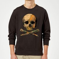 Treasure Map Sweatshirt - Black - L - Black from TOBIAS FONSECA