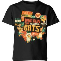 Who Run The World? Cats. Kids' T-Shirt - Black - 5-6 Years - Black from TOBIAS FONSECA