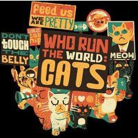Who Run The World? Cats. Sweatshirt - Black - S - Black from TOBIAS FONSECA