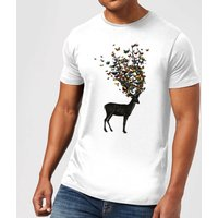 Wild Nature Men's T-Shirt - White - S - White from TOBIAS FONSECA