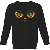 Tobias Fonseca Xmas Cat Attack Kids' Sweatshirt - Black - 9-10 Years - Black from TOBIAS FONSECA