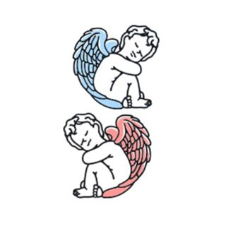 Angel Waterproof Temporary Tattoo As Shown In Figure - One Size from Tattoofield
