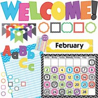 Teacher Created Resources Chevon Accents Board Set from Teacher Created Resources