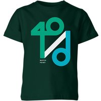 40 / d Match Point Kids' T-Shirt - Forest Green - 5-6 Years - Forest Green from The Tennis Collection