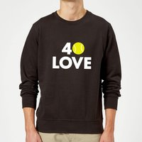 40 Love Sweatshirt - Black - M - Black from The Tennis Collection