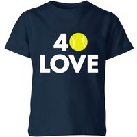 40 Love Kids' T-Shirt - Navy - 3-4 Years - Navy from The Tennis Collection