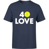 40 Love T-Shirt - Navy - XXL - Navy from The Tennis Collection