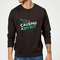 Causing a Racket Sweatshirt - Black - L - Black from The Tennis Collection