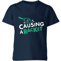 Causing a Racket Kids' T-Shirt - Navy - 9-10 Years - Navy from The Tennis Collection