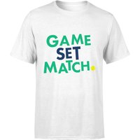 Game Set Match T-Shirt - White - XXL - White from The Tennis Collection