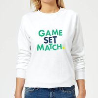 Game Set Match Women's Sweatshirt - White - L - White from The Tennis Collection