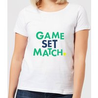 Game Set Match Women's T-Shirt - White - XL - White from The Tennis Collection