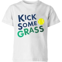 Kick Some Grass Kids' T-Shirt - White - 5-6 Years - White from The Tennis Collection