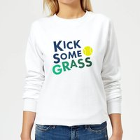 Kick Some Grass Women's Sweatshirt - White - XXL - White from The Tennis Collection