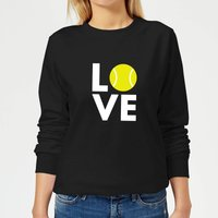 Love Tennis Women's Sweatshirt - Black - XL - Black from The Tennis Collection