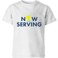 Now Serving Kids' T-Shirt - White - 9-10 Years - White from The Tennis Collection